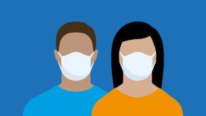 face mask, covid-19, couple